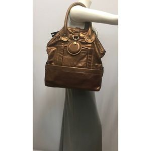 CHLOE Bronze Leather Bag Extra Large